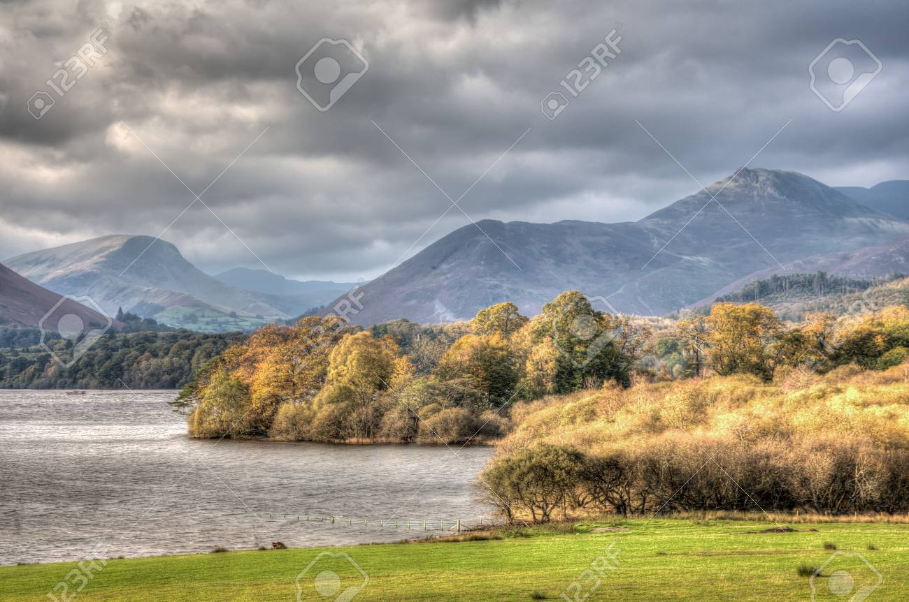 Derwent Water, Keswick, Cumbria, England Stock Photo - 24925132