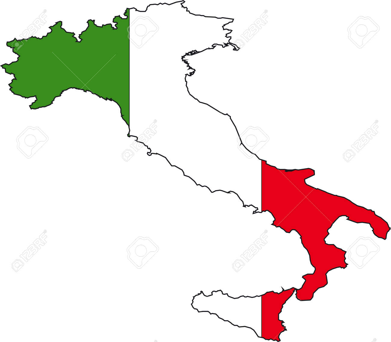 Map Of Italy Vector. Vector. Get Free Images About World Maps