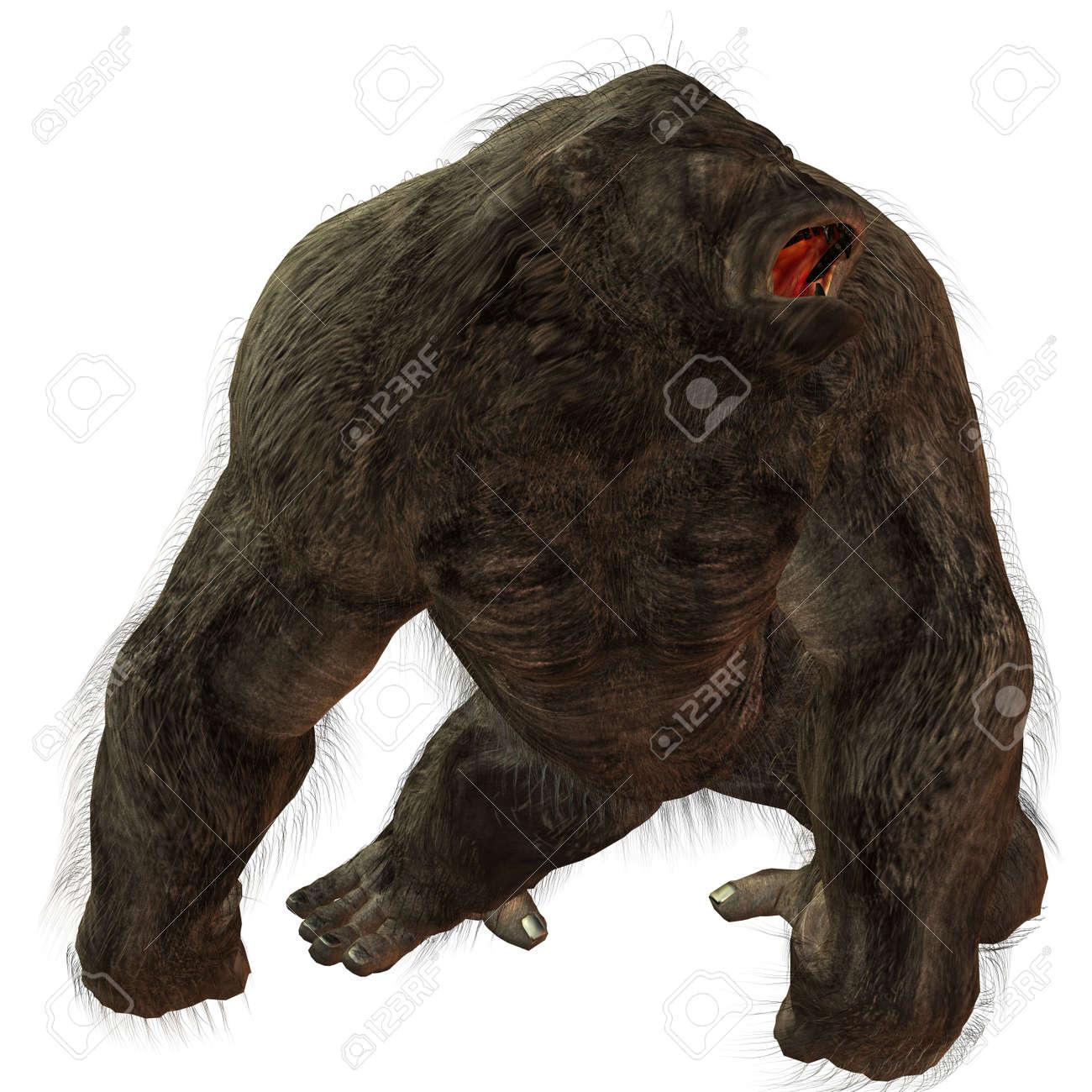 3D Render of an Silverback Gorilla Stock Photo - 3683785
