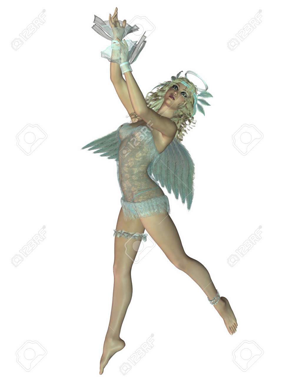 3 D Render of an Sexy Angel Stock Photo - 3859487