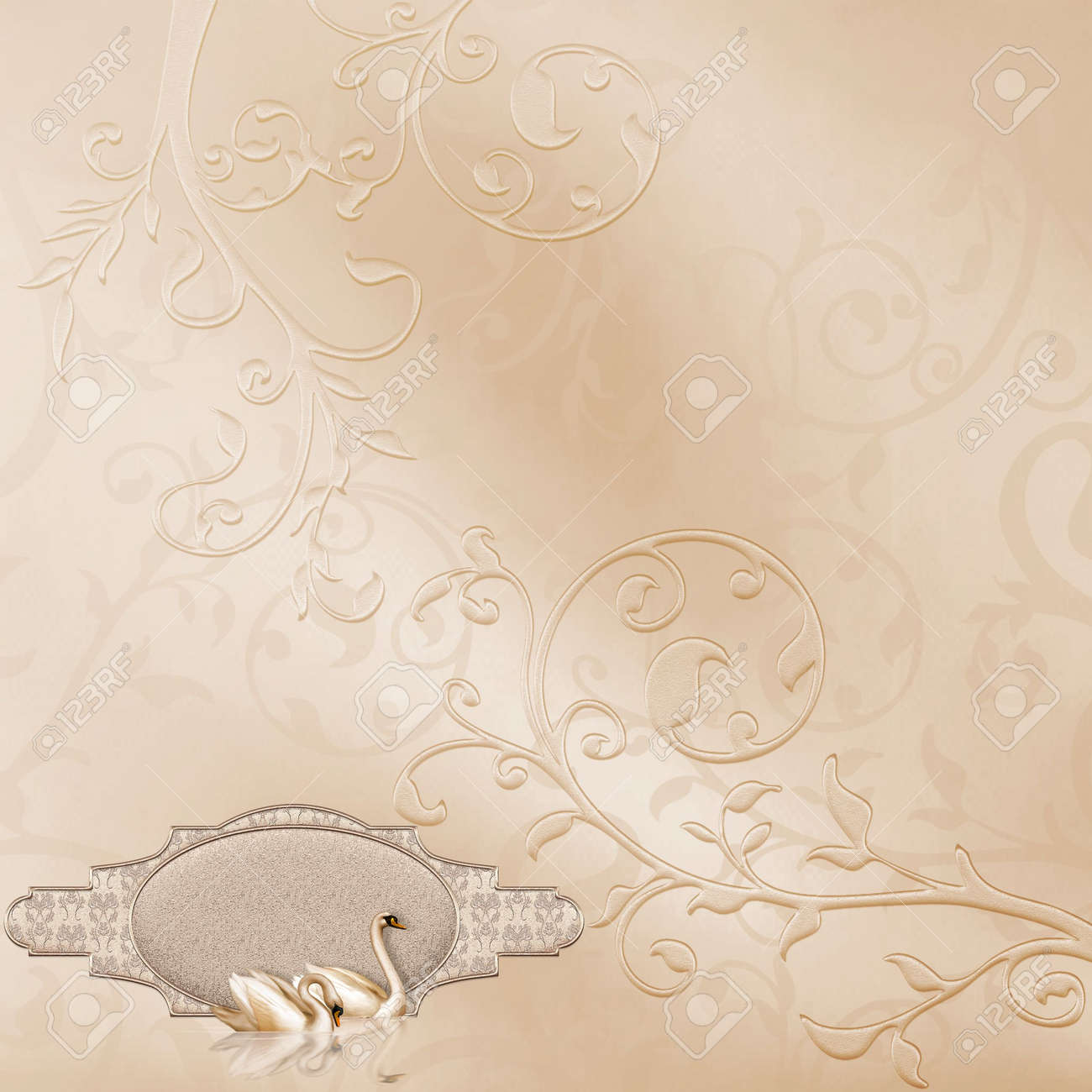 Elegant Card With A Beautiful Wedding Design Stock Photo Picture