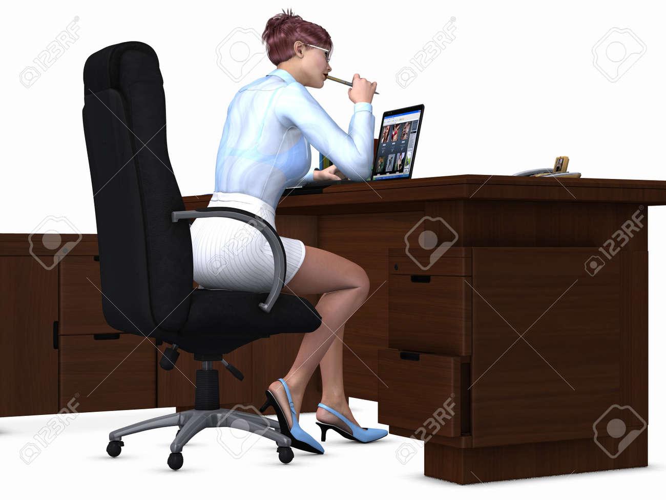 Sexy Office Girl Stock Photo - 6925998