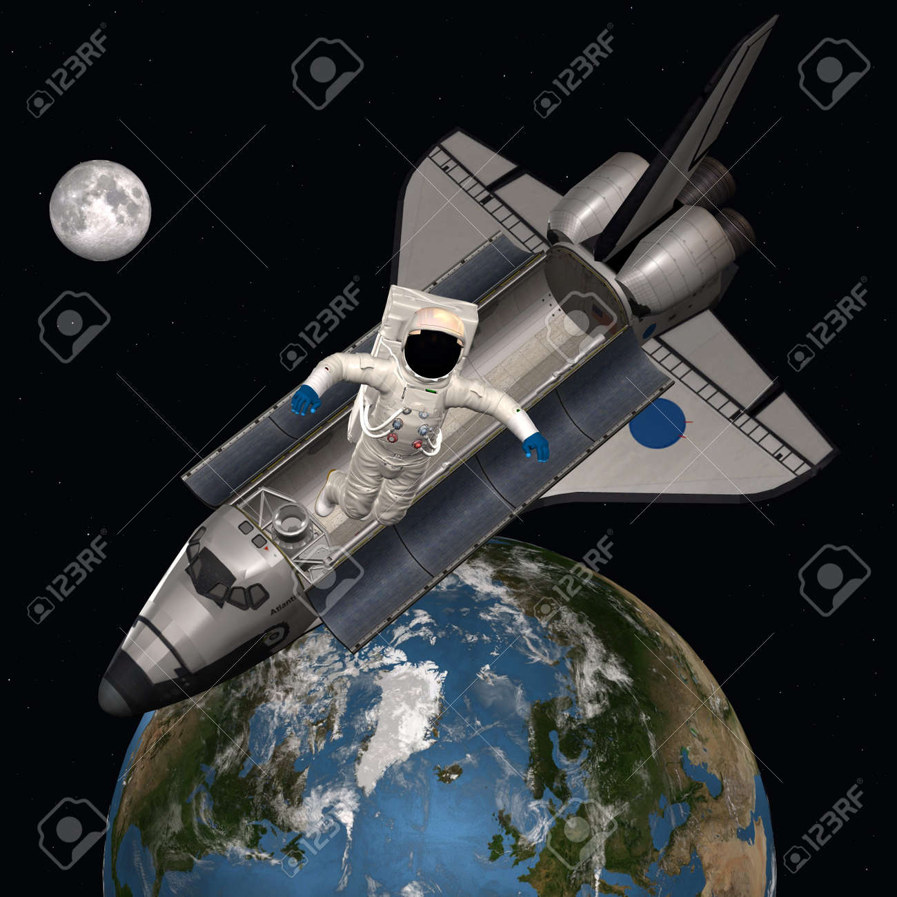 Astronaut in outer space Stock Photo - 7483829