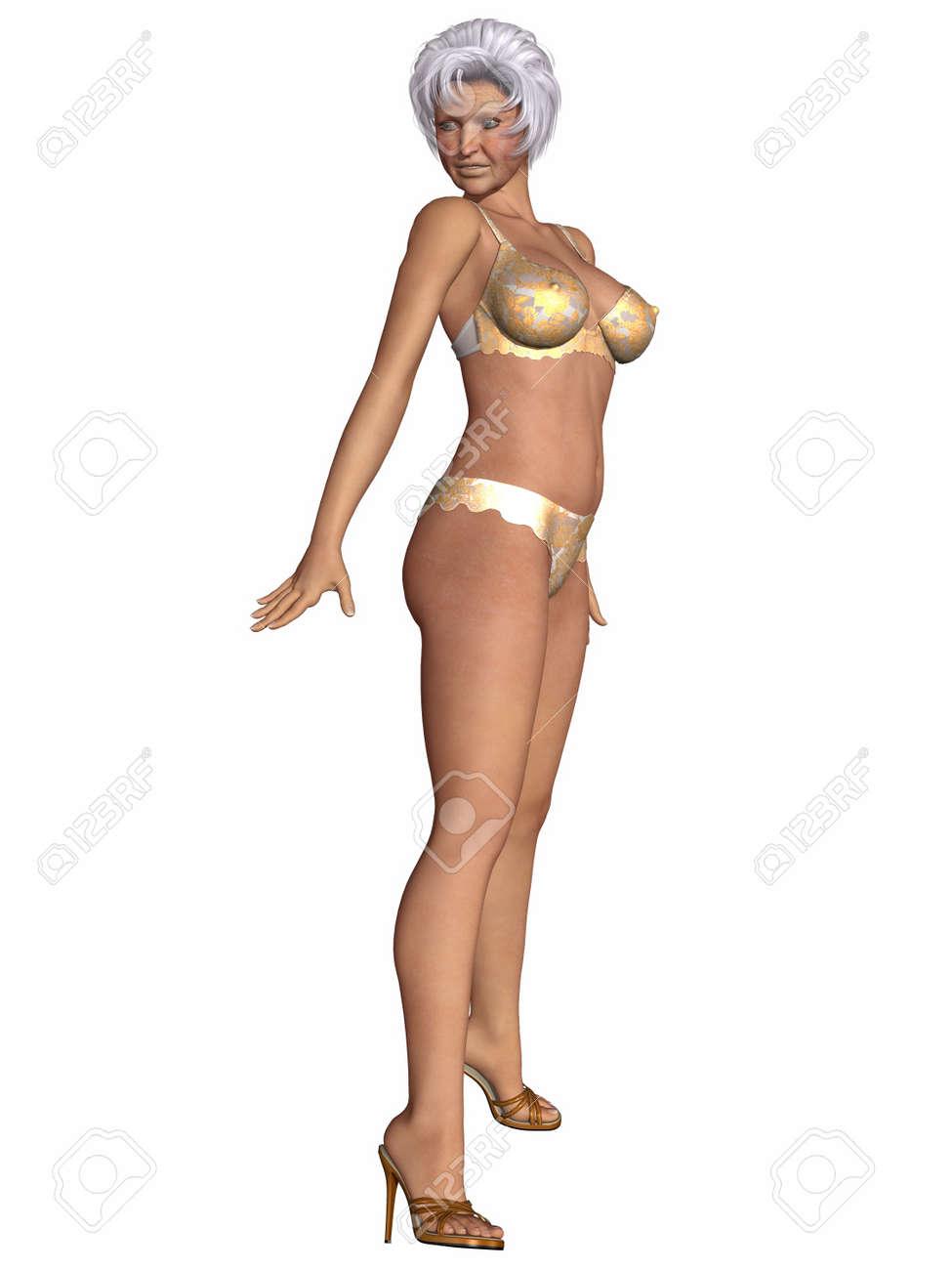 Sexy granny lingerie