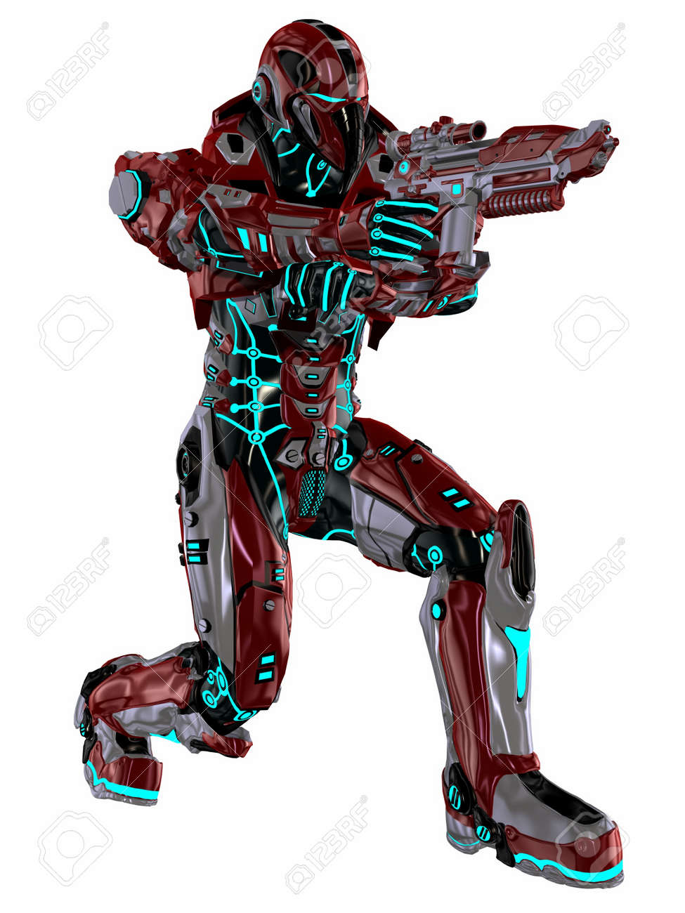 Futuristic soldier Stock Photo - 9554970