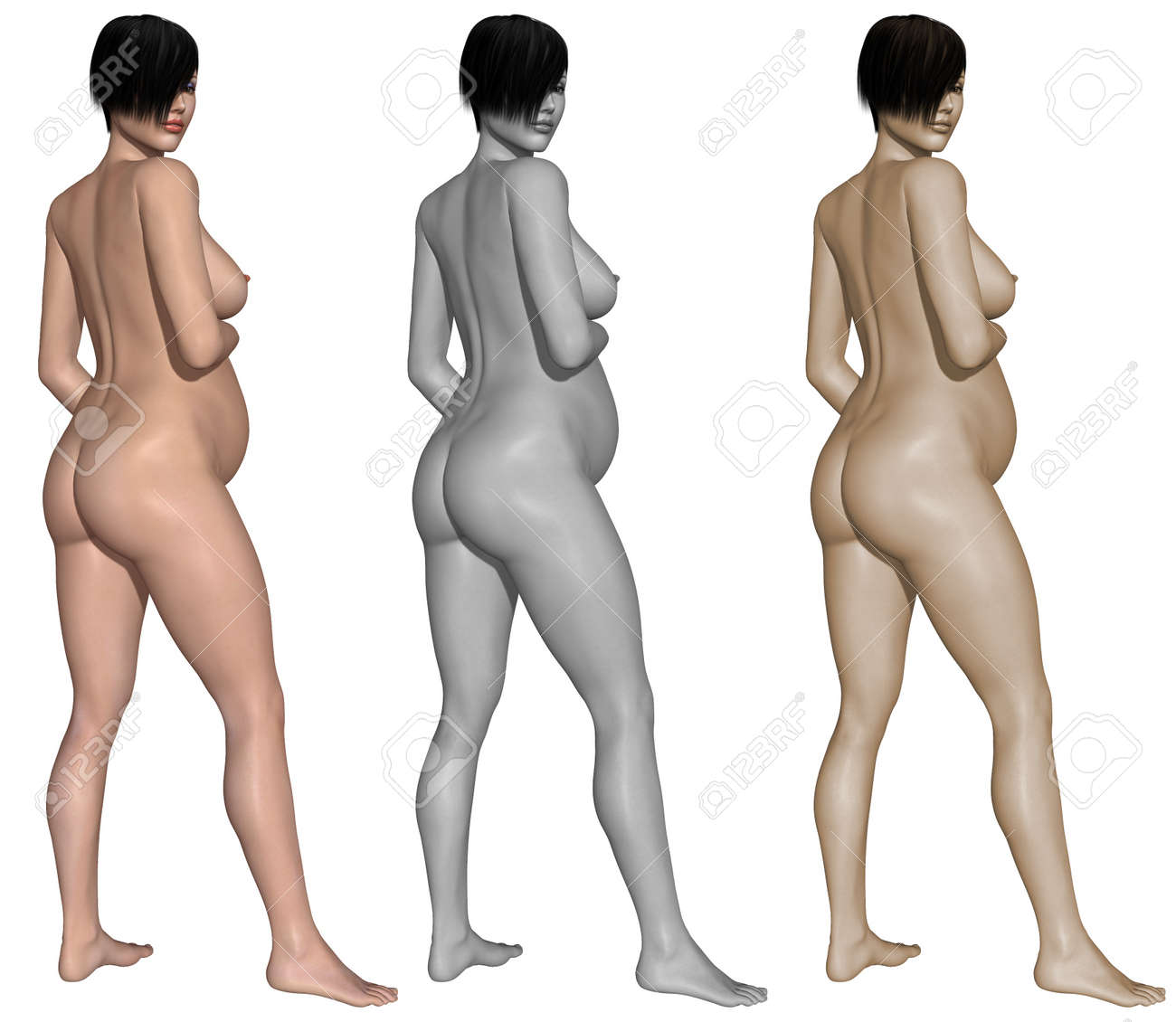 Nude pregnant woman Stock Photo - 10011394