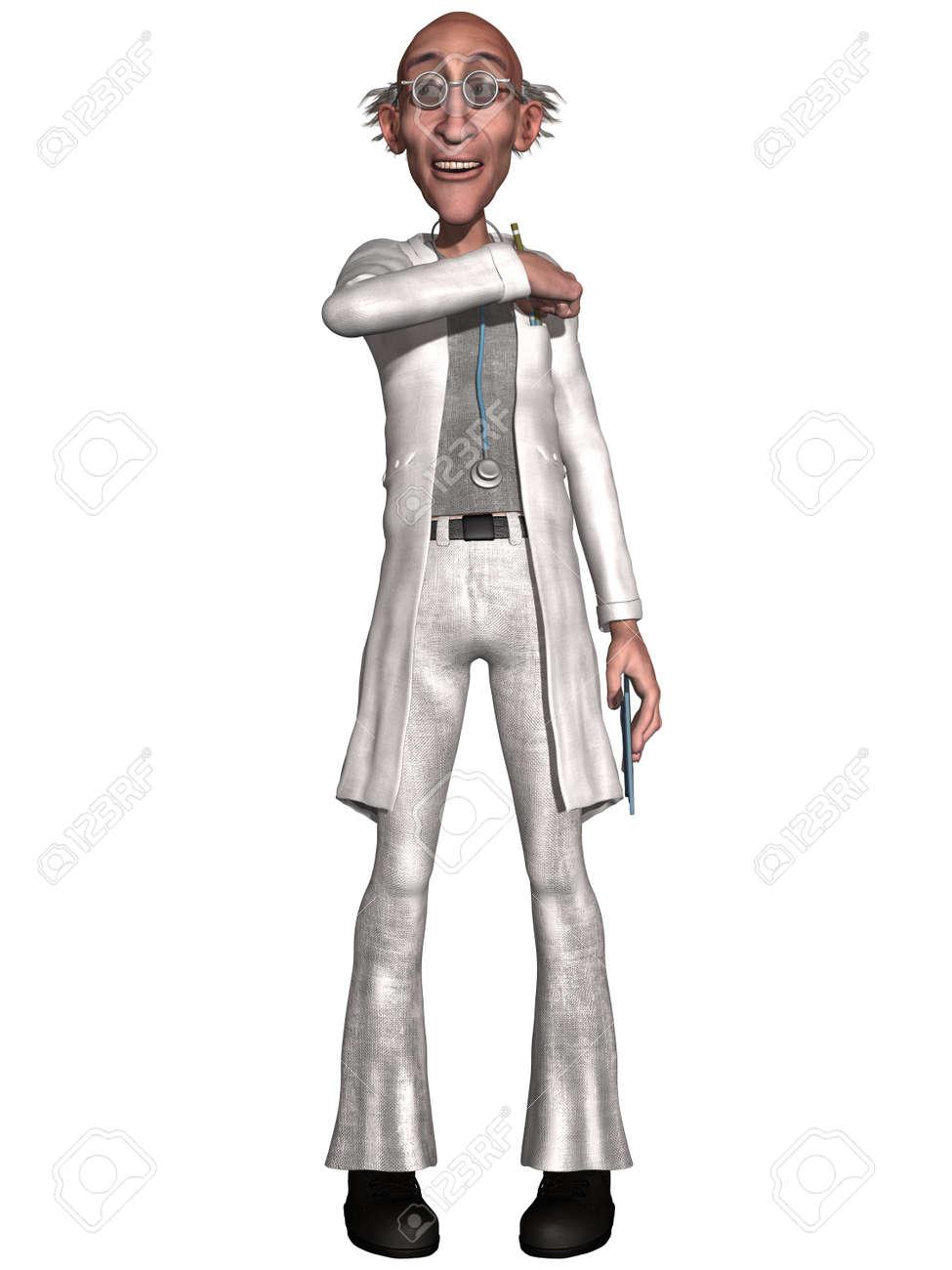 Crazy doctor Stock Photo - 10135605