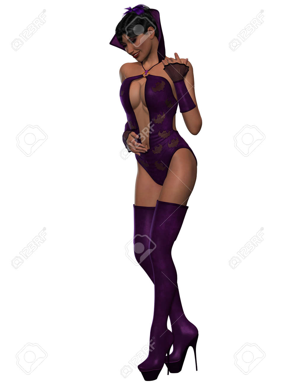 Sexy Halloween Outfit Stock Photo Picture And Royalty Free Image