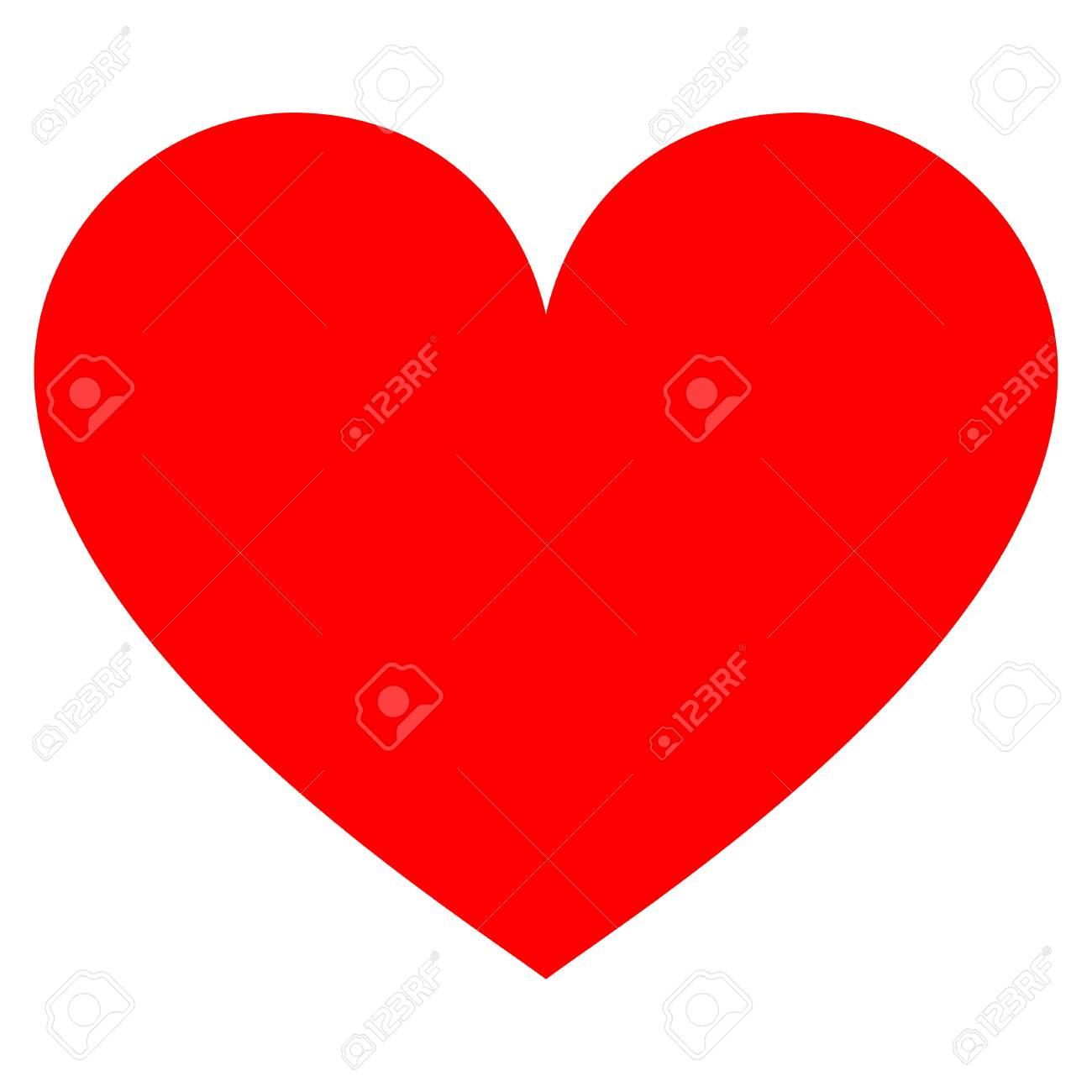 Icono De Amor Corazón Raster Plano Un Icono Aislado En Un Fondo Blanco