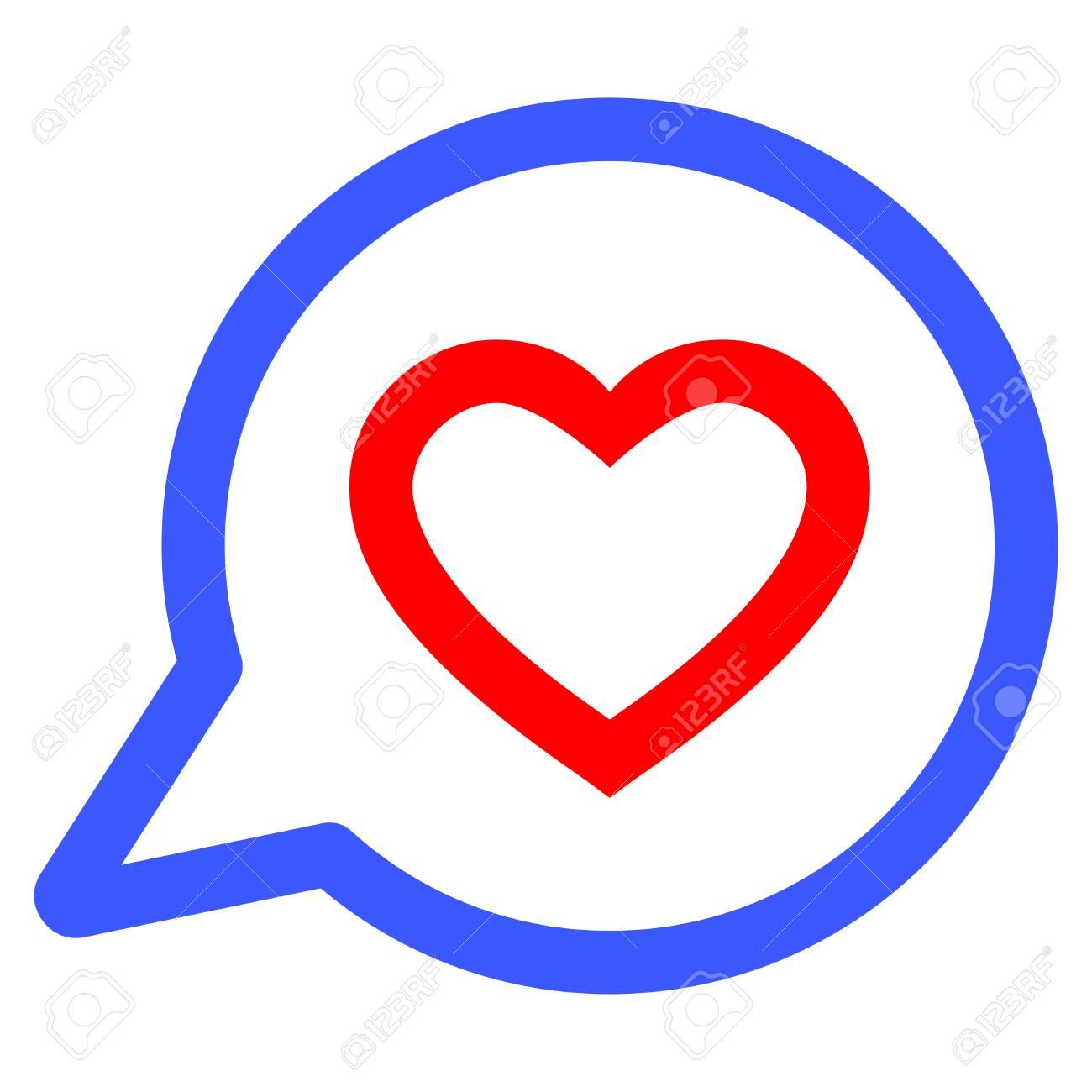Romantic heart message flat vector illustration an isolated icon romantic heart message flat vector illustration an isolated icon on a white background banque biocorpaavc