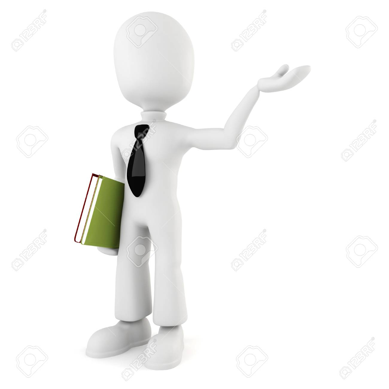 3d man holding a book Stock Photo - 8224257