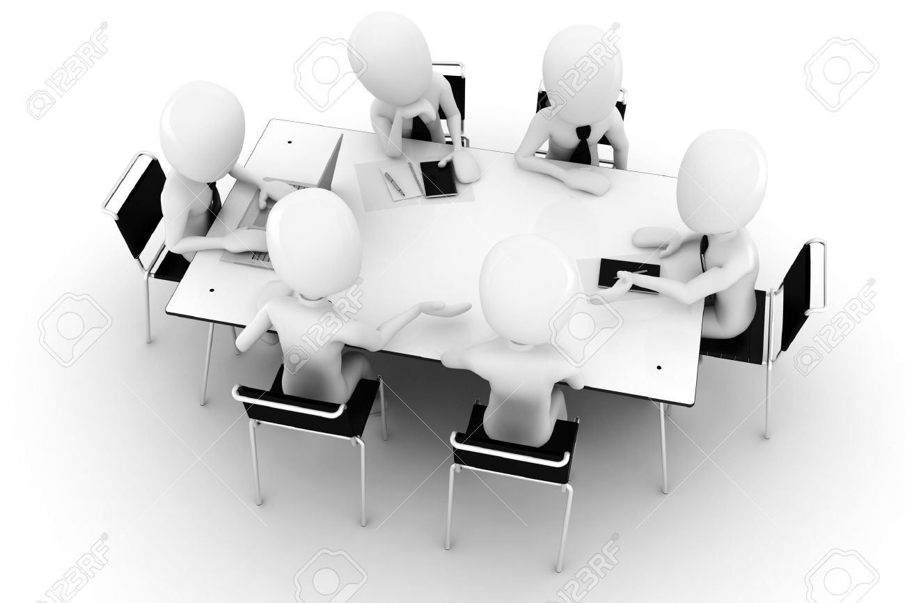 3d man, business meeting, isolated on white Stock Photo - 8161298