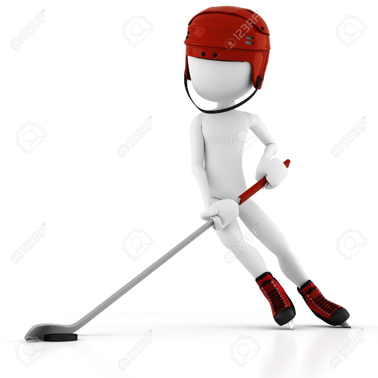 3d man hockey player Stock Photo - 8164832