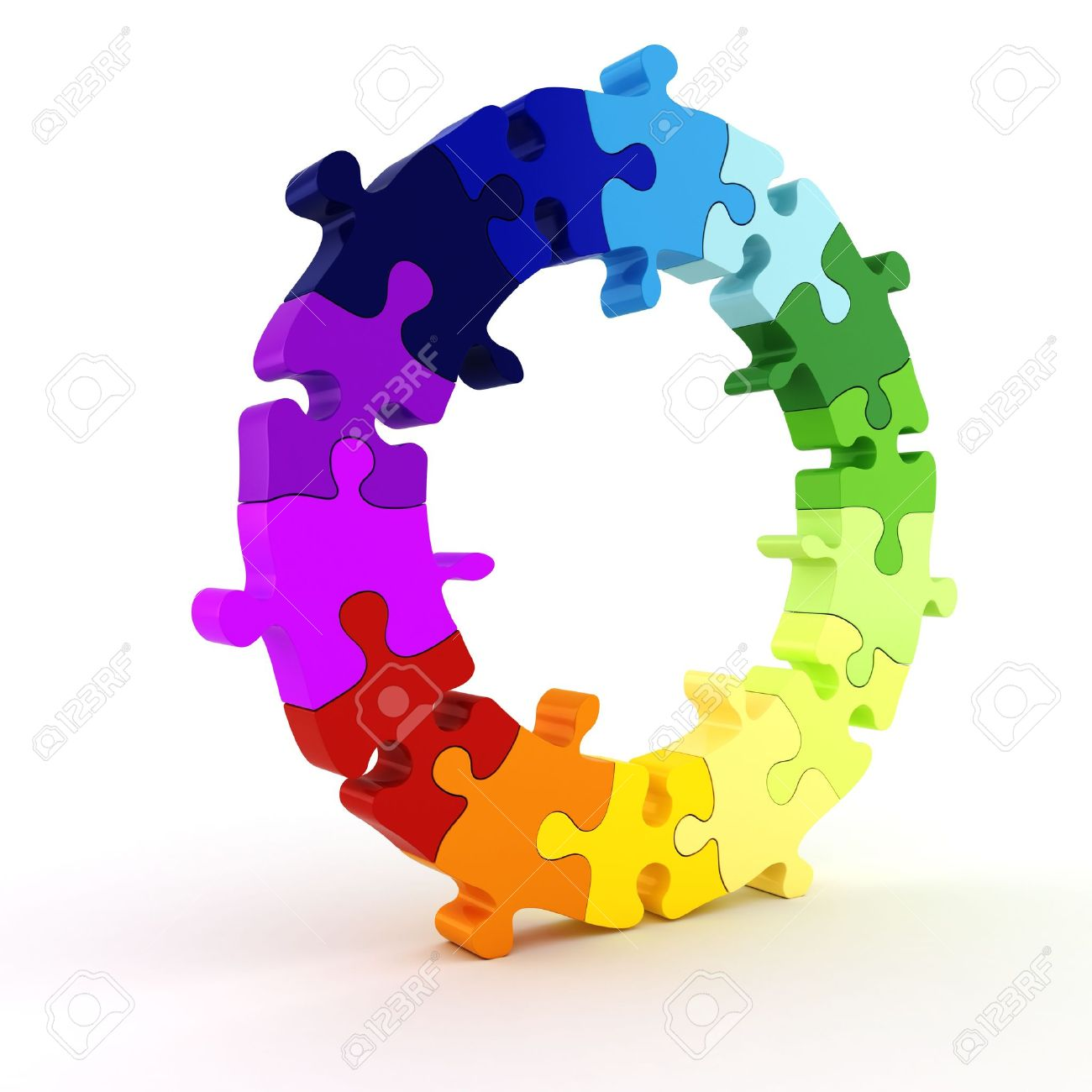 3d colorful puzzle chart wheel Stock Photo - 8475638
