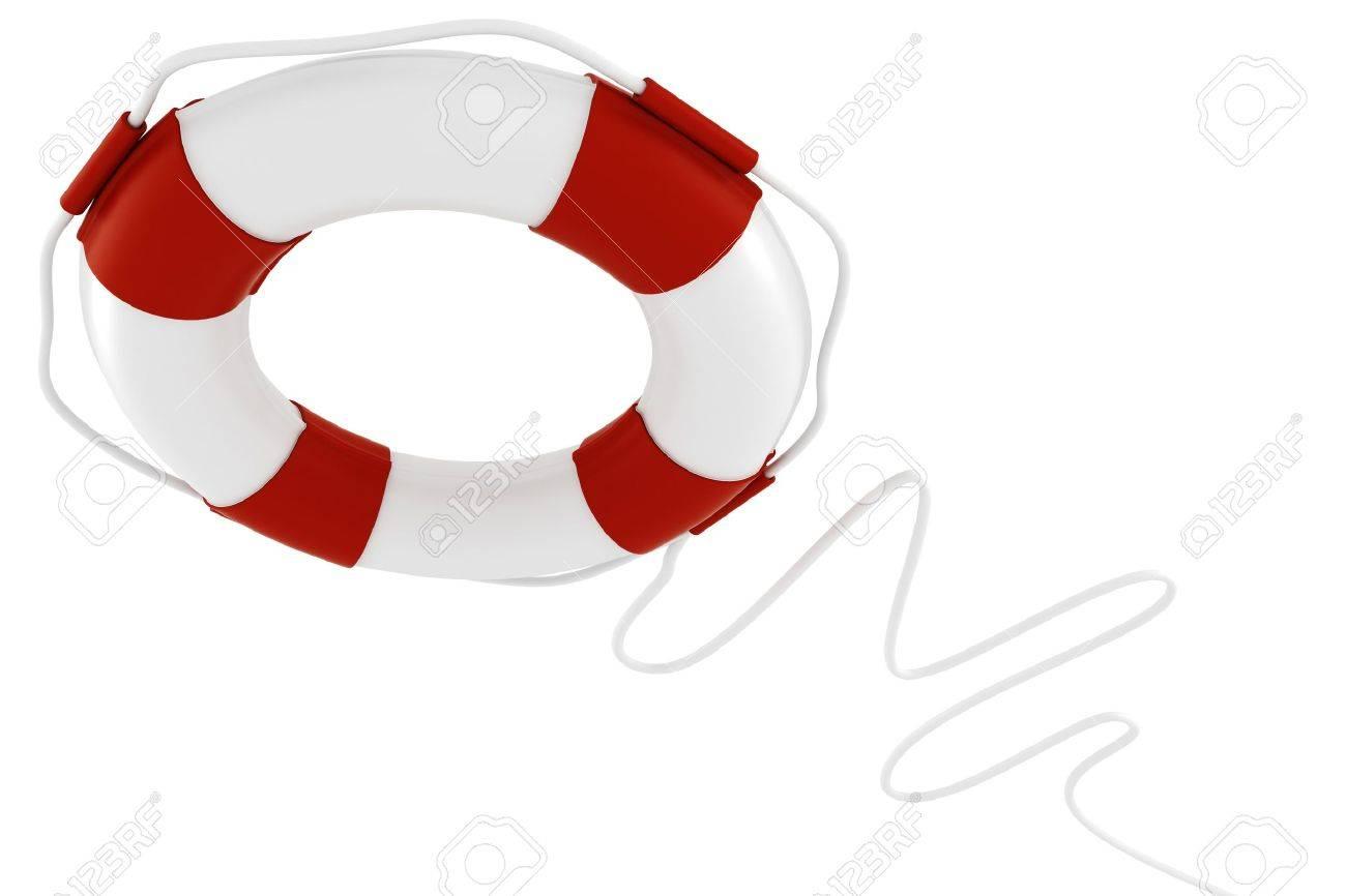 3d life buoy, on white background Stock Photo - 8557793
