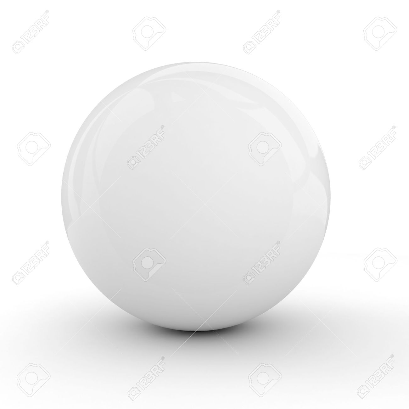 3d white sphere isolated on white Stock Photo - 8755263