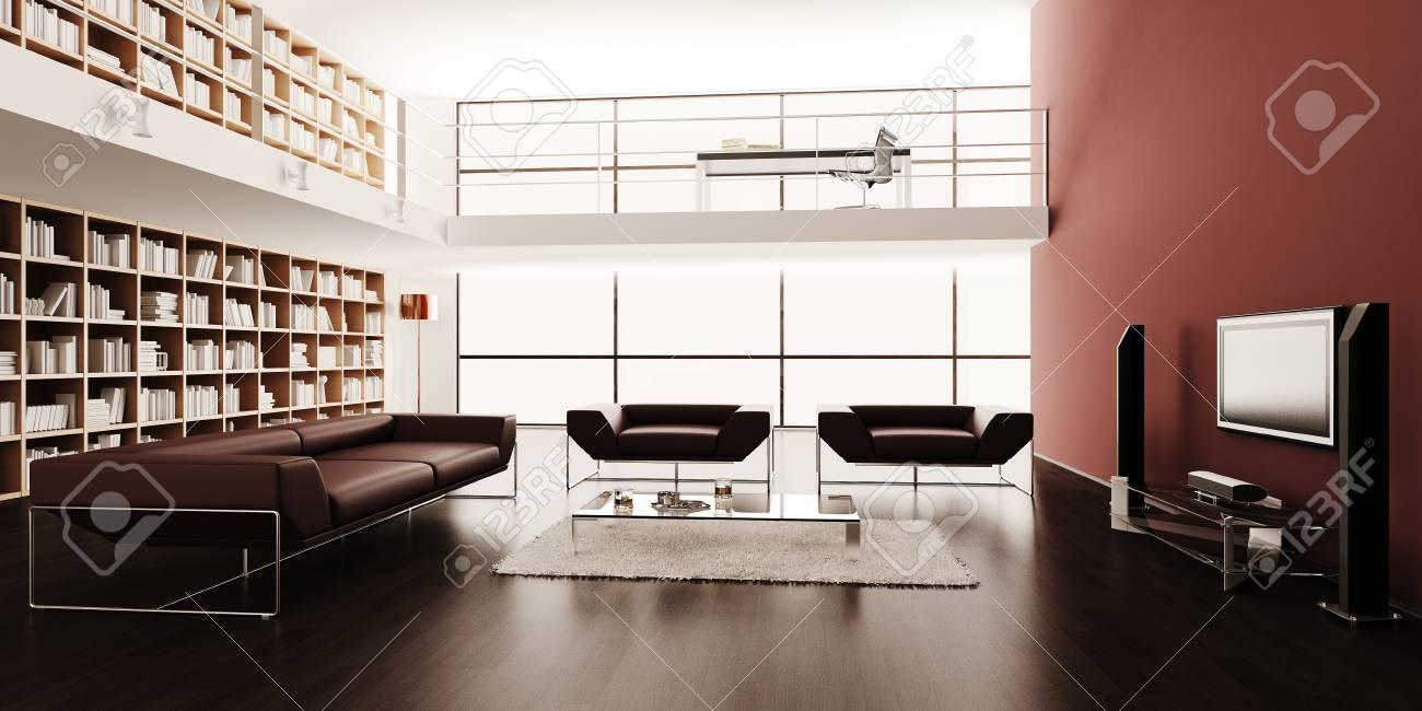 3d render of a modern interior design Stock Photo - 9208931