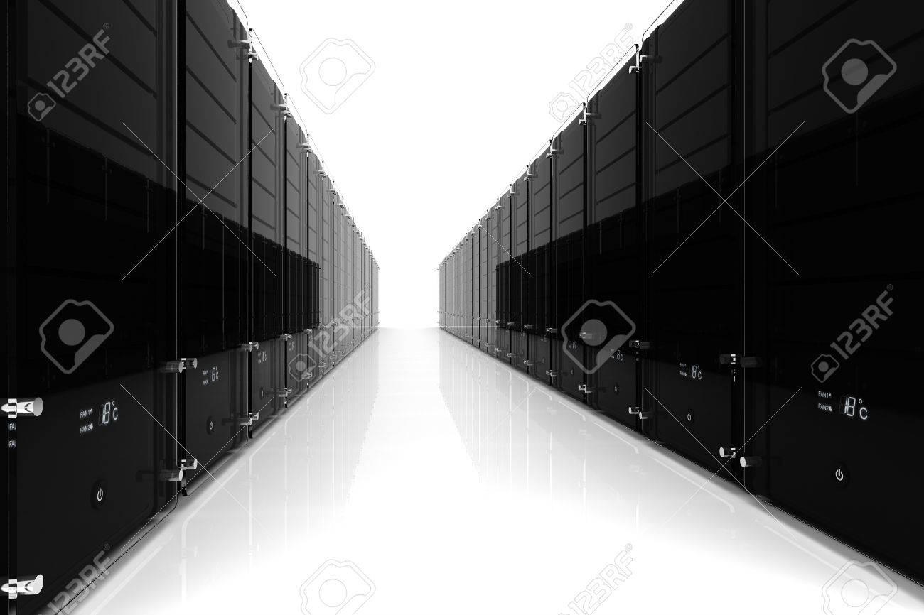 serveur 3D - datacenter, sur fond blanc Banque d'images - 9316642