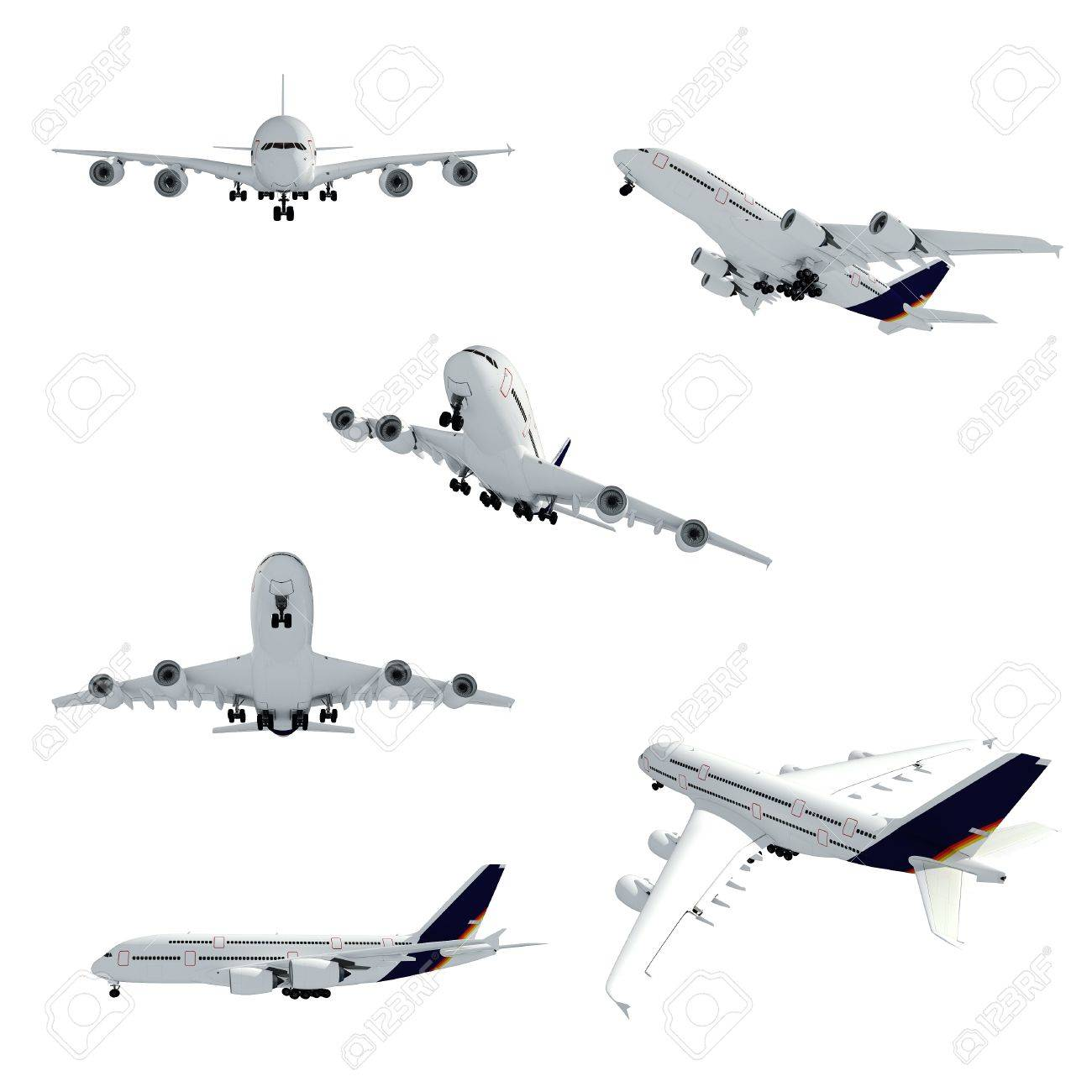 3d airplane on white background Stock Photo - 9345450