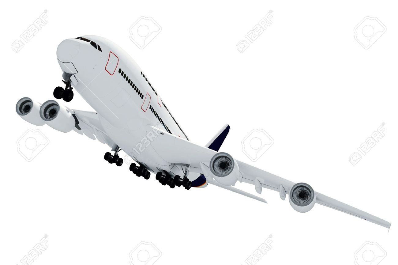 3d airplane on white background - 9345438