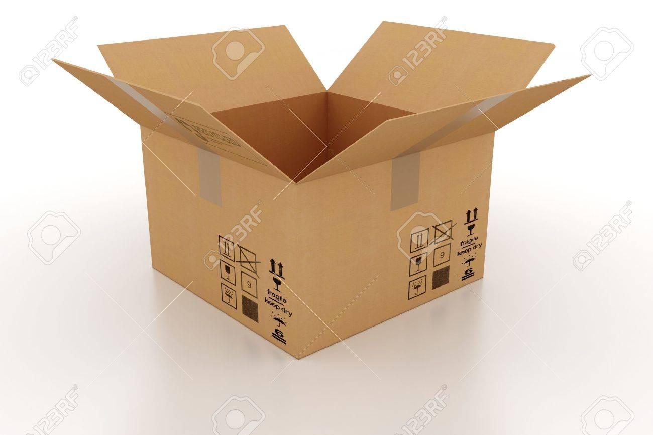 3d cardboard box Stock Photo - 9345459