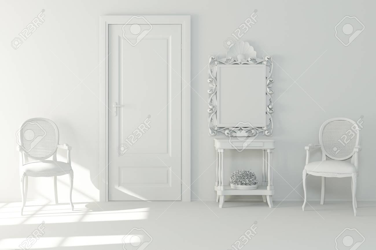 3d interior design - clay render Stock Photo - 9422447