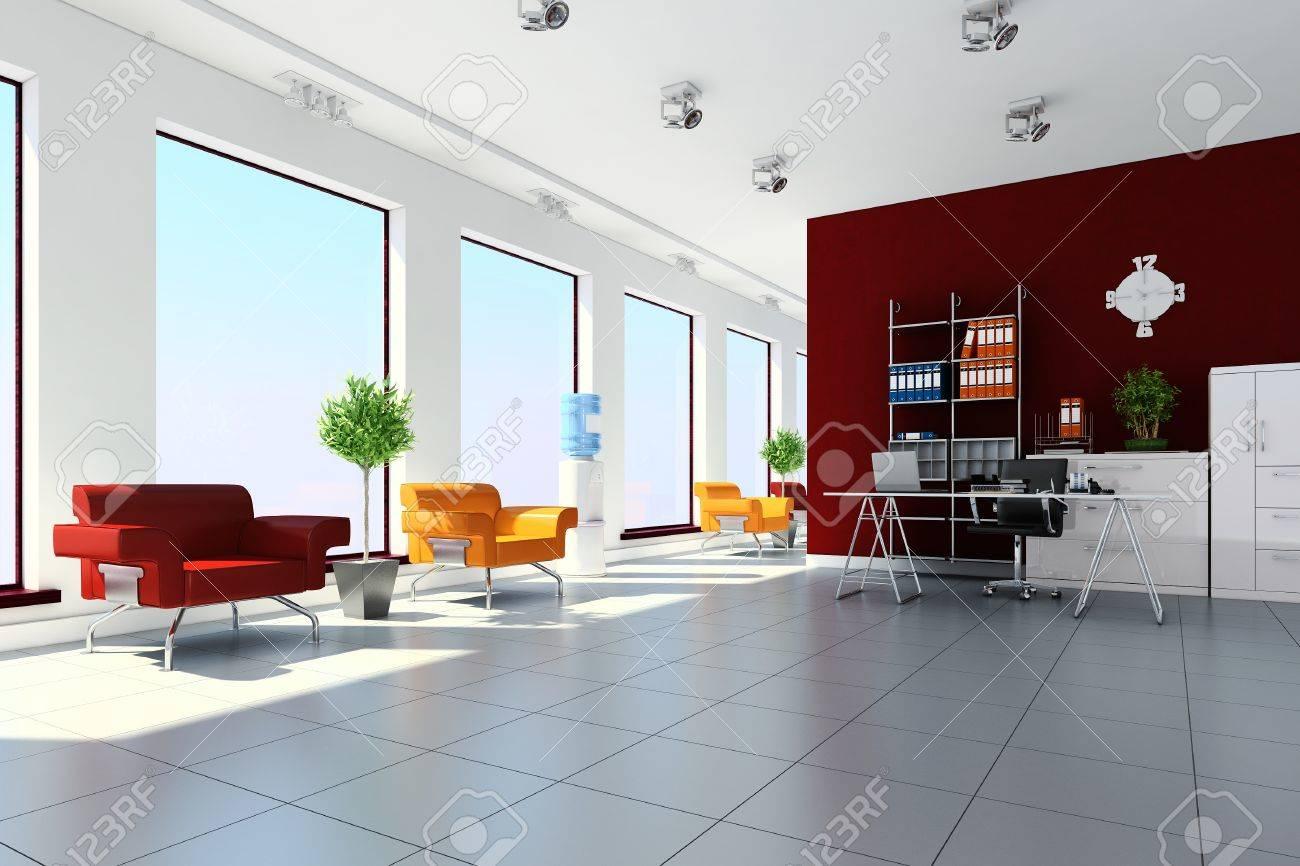 3D Modernen Büro-Innenarchitektur Lizenzfreie Fotos, Bilder Und ...
