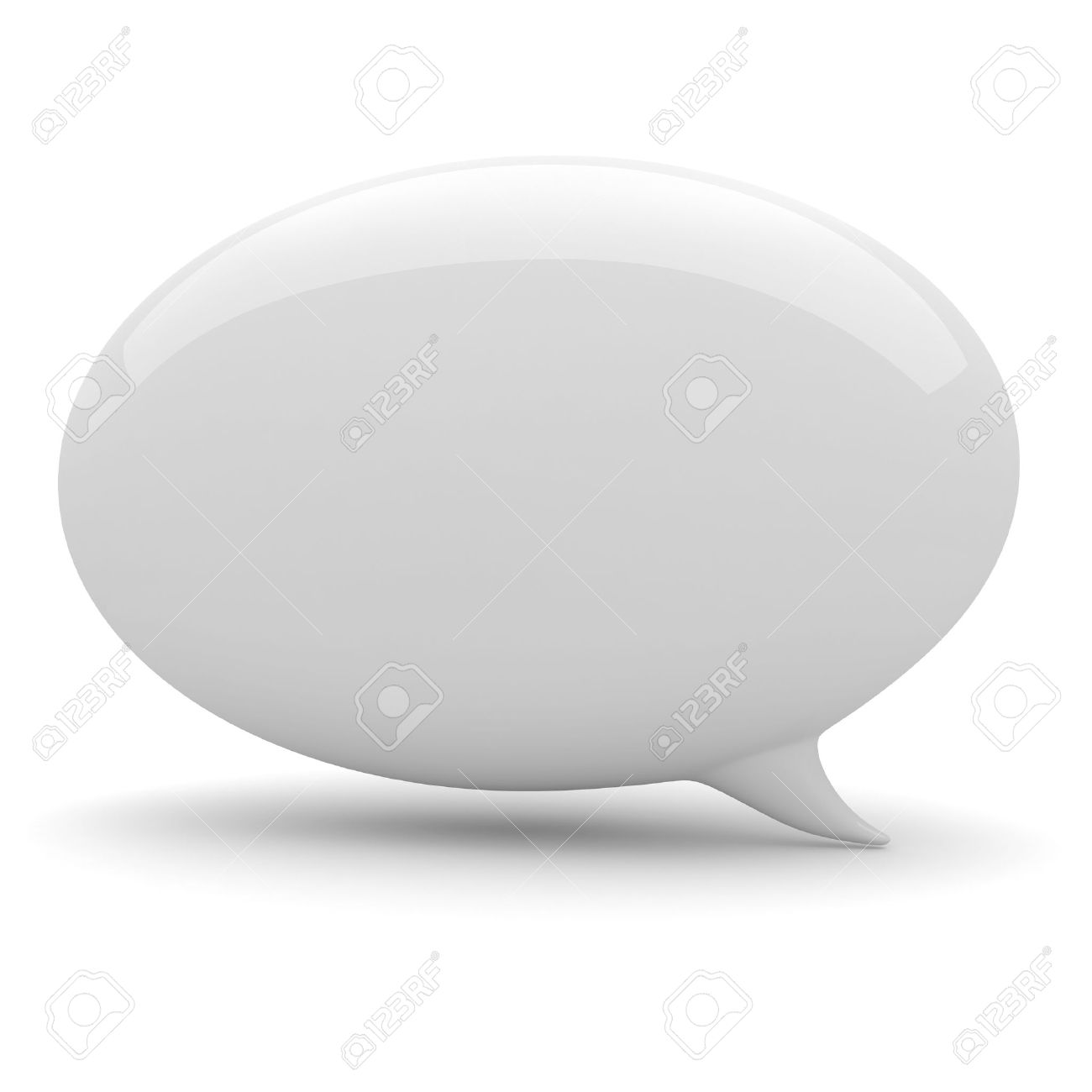 3d bubble talk, on white background Stock Photo - 9916943