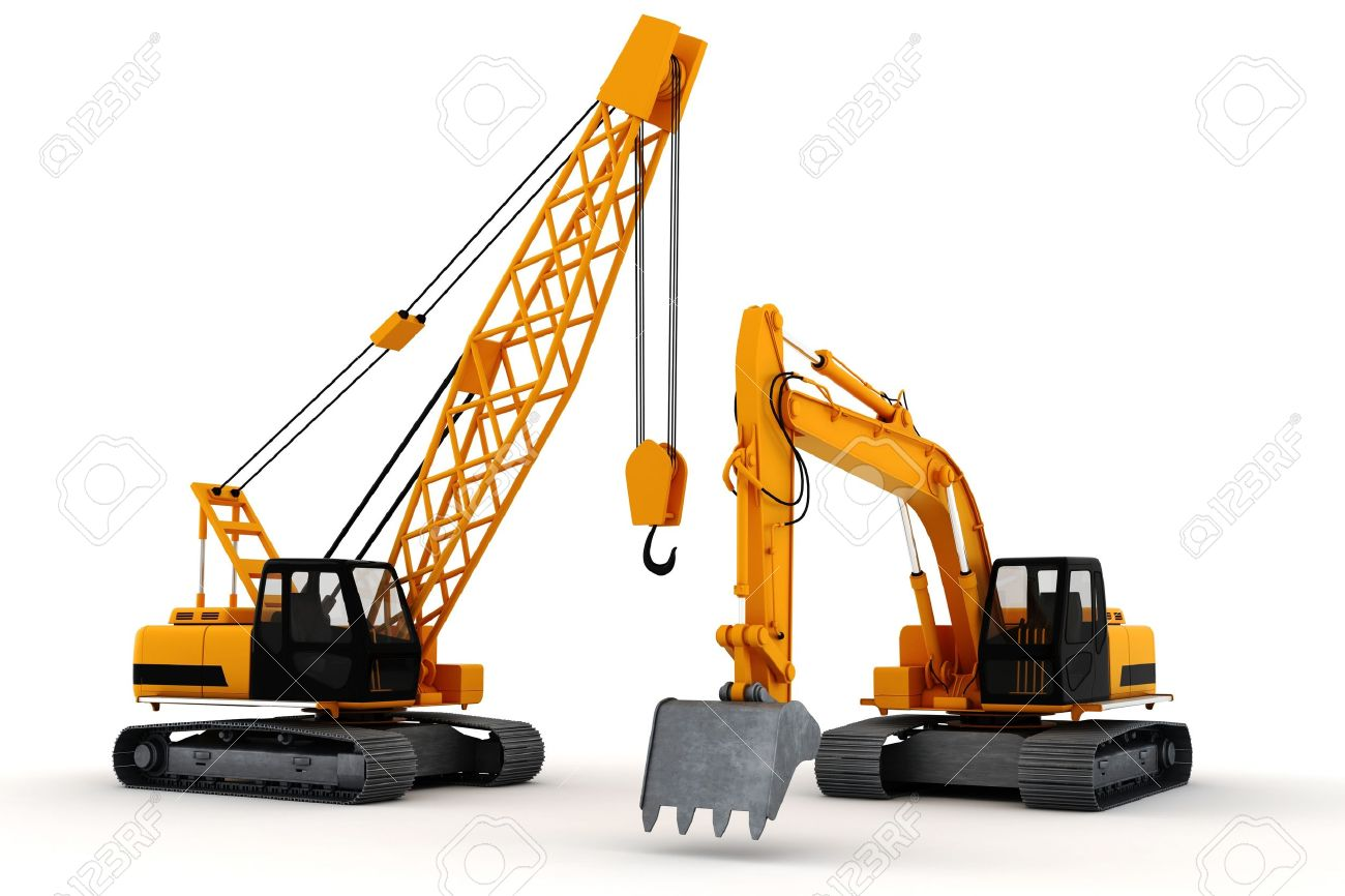 3d render of construction concept, on white - 10475500