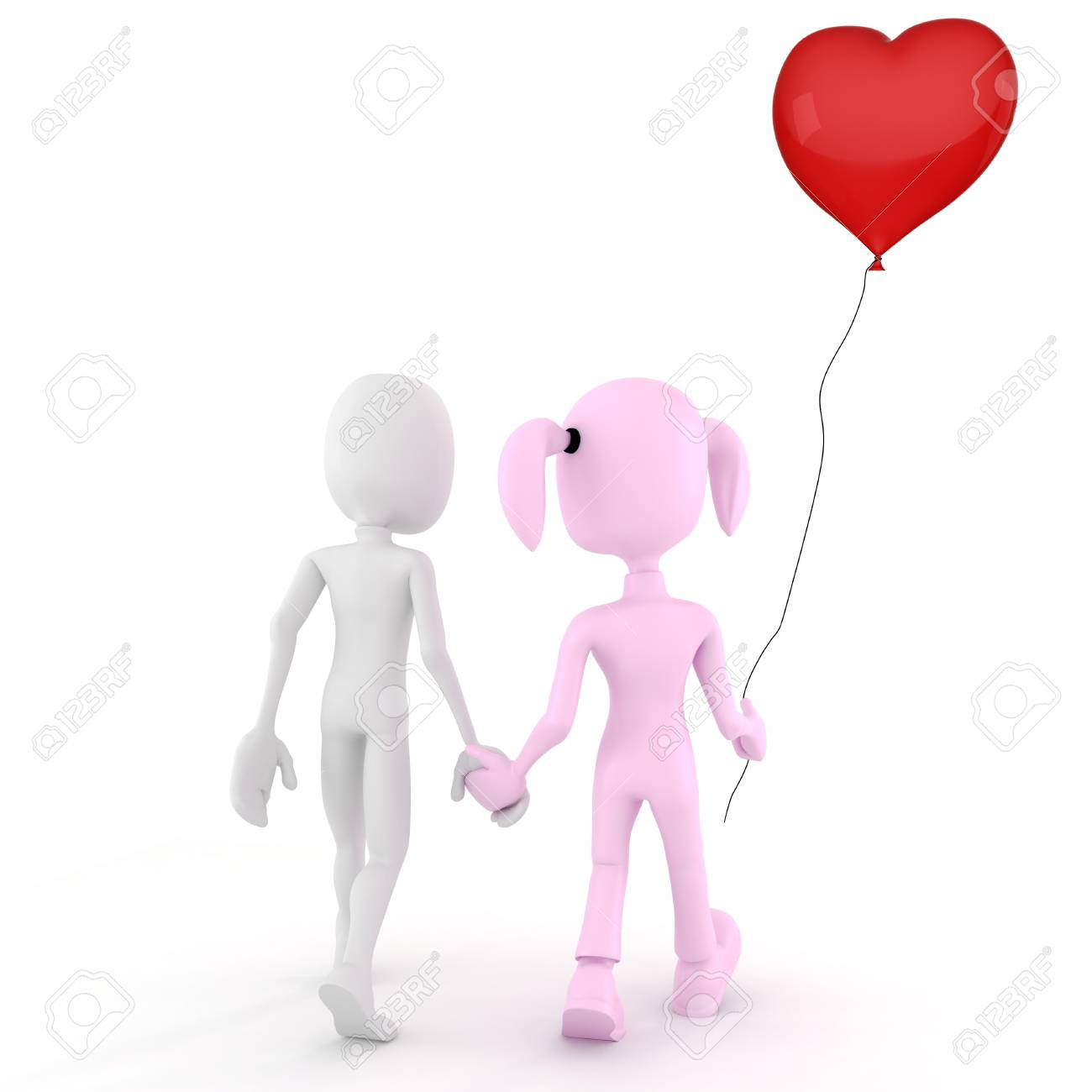 3d man  Valentine concept Love is in the air! Stock Photo - 11771216