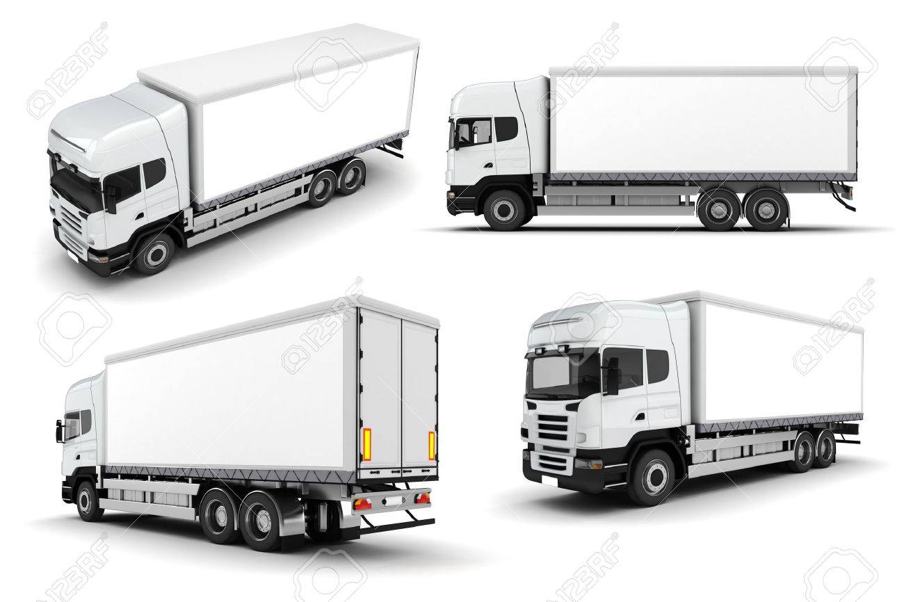 3d truck on white background stock photo picture and royalty free