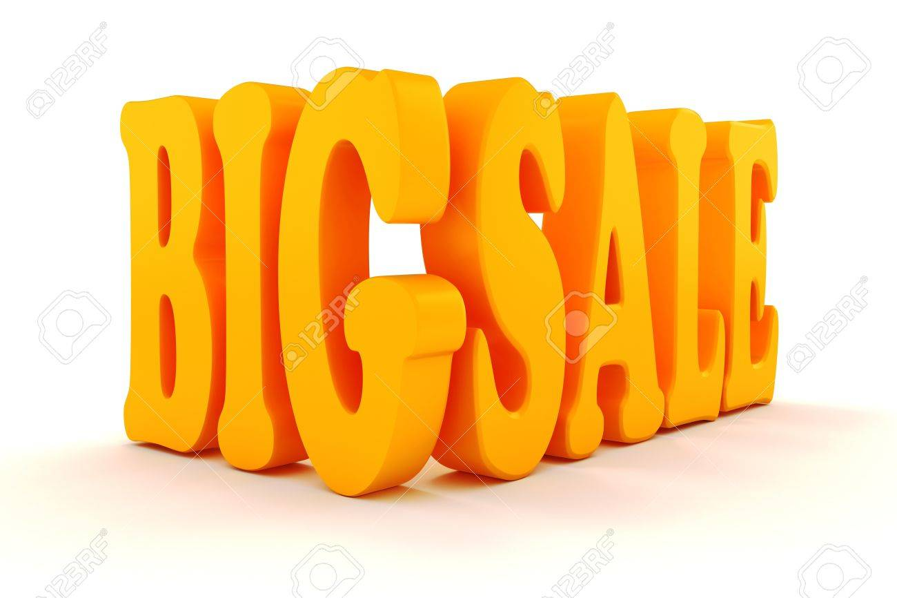 3d BIG SALE text on white background Stock Photo - 20836205