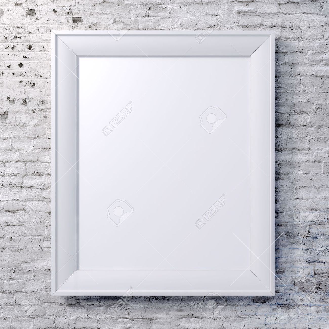 Blank Frame On Vintage Wall Stock Photo, Picture And Royalty Free ...
