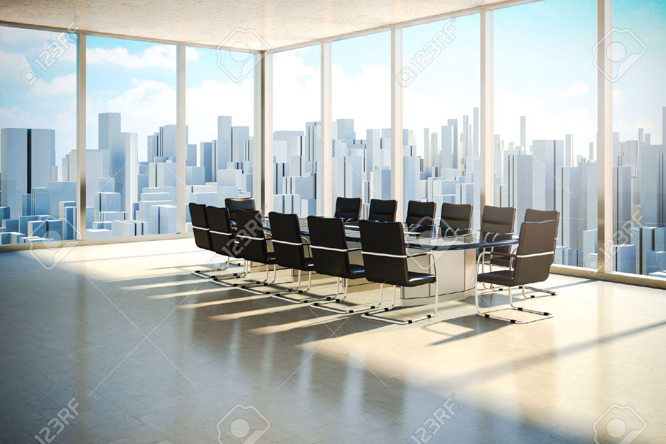 Intérieur de bureau moderne avec une belle lumière du jour sans fin