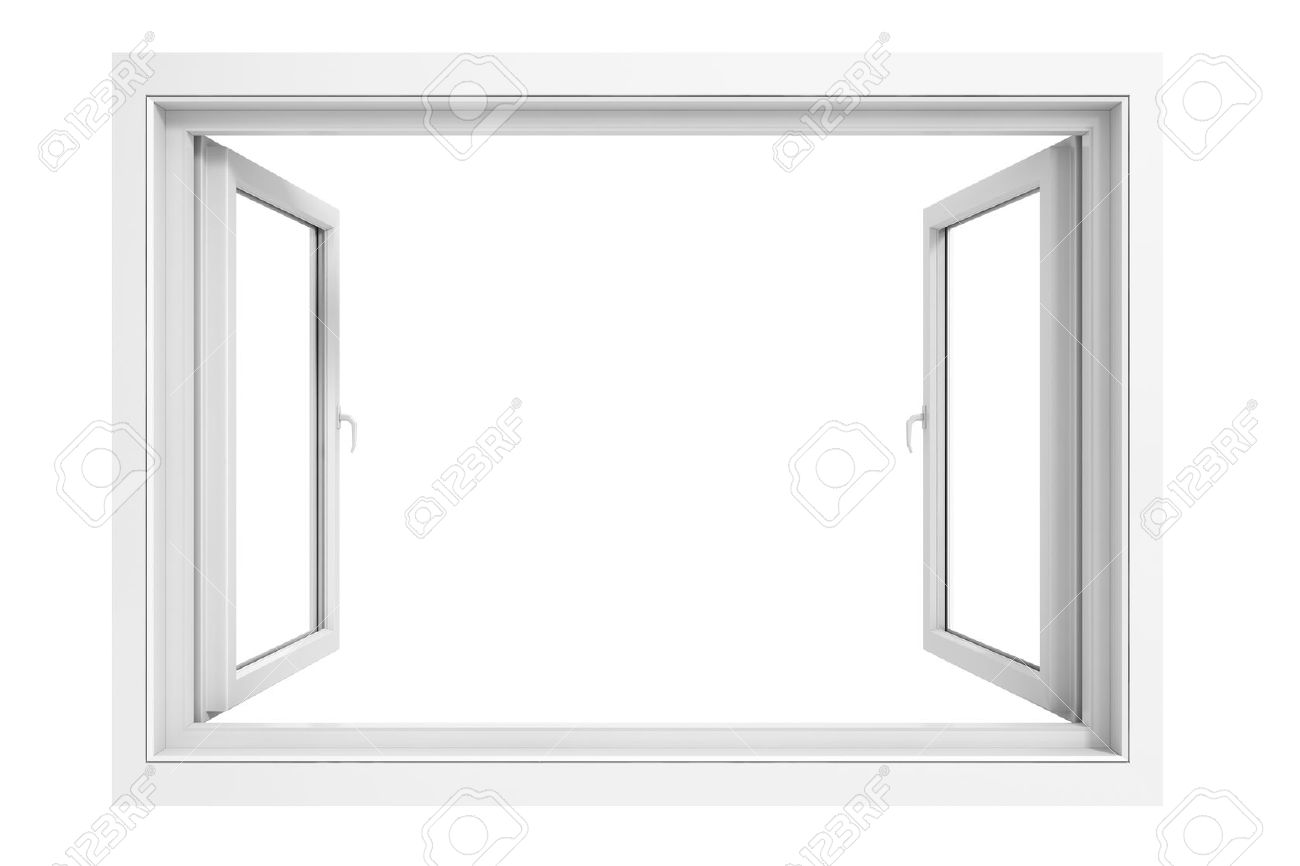 3d Fensterrahmen Auf Weißem Hintergrund Lizenzfreie Fotos, Bilder ...