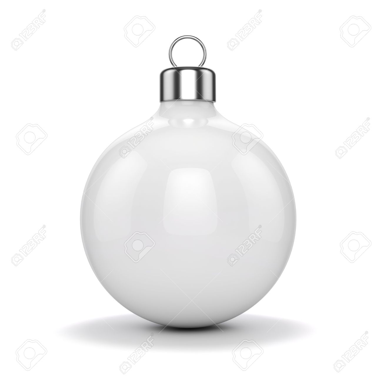 3d Christmas Ball Ornaments On White Background Stock Photo ...
