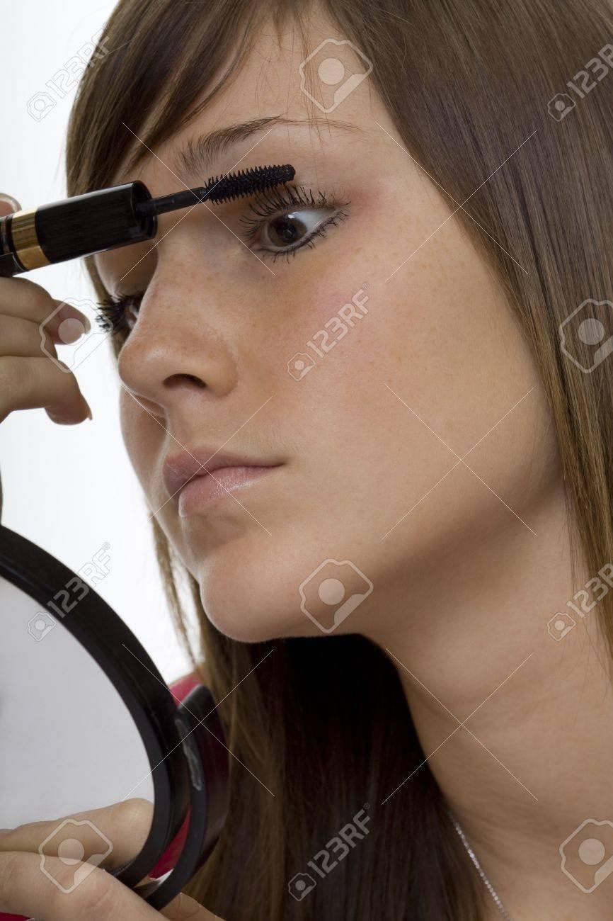 Portrait teenager with mascara Stock Photo - 4420310