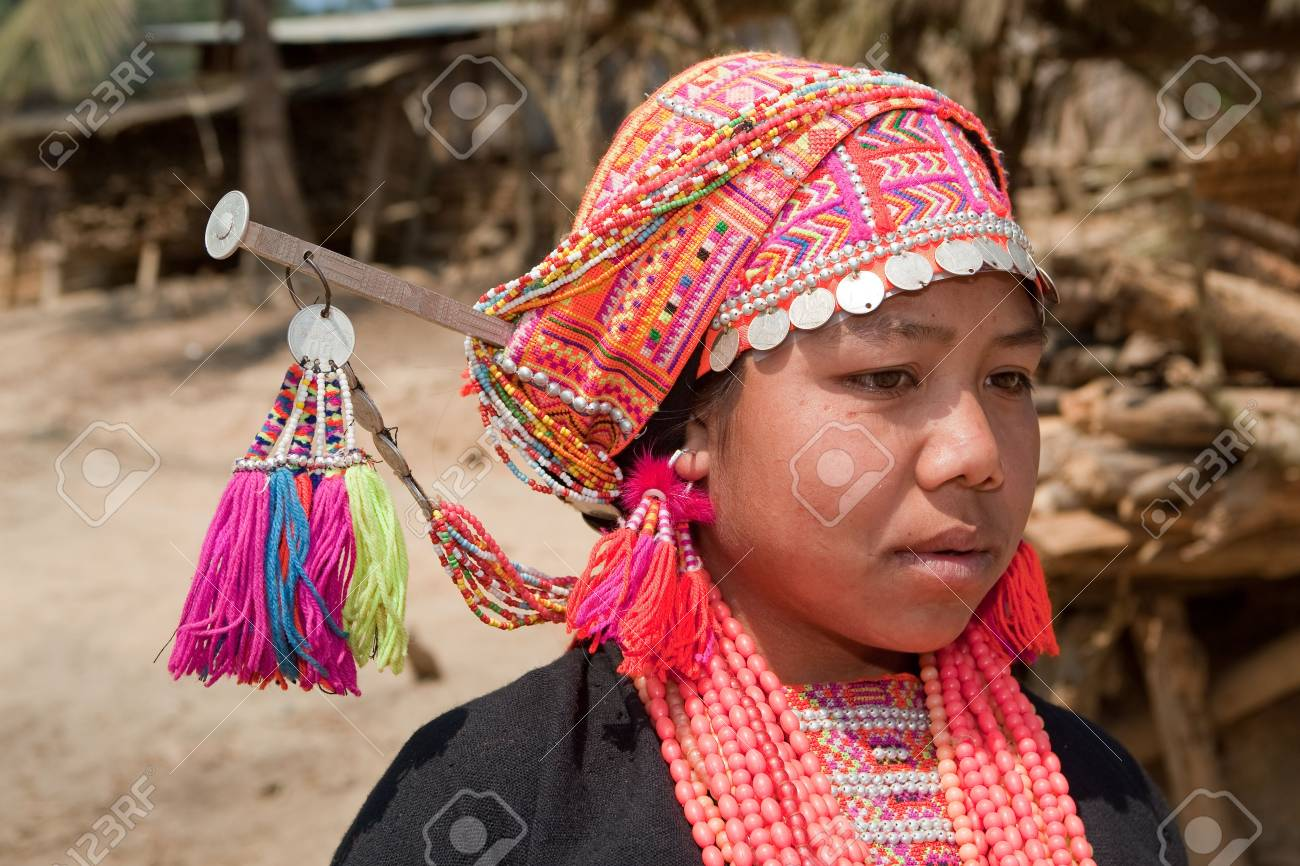 Akha woman from Laos Stock Photo - 6584880