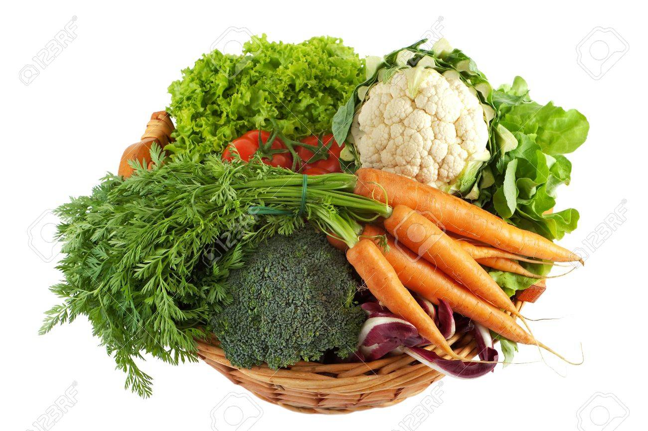 Basket with colorful vegetables - 6854972