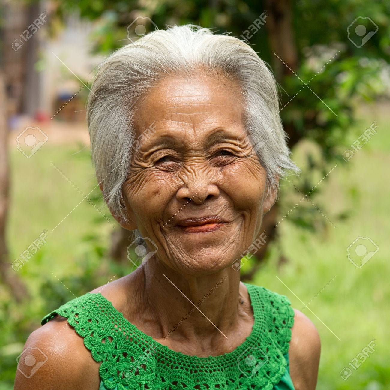 Old asian female