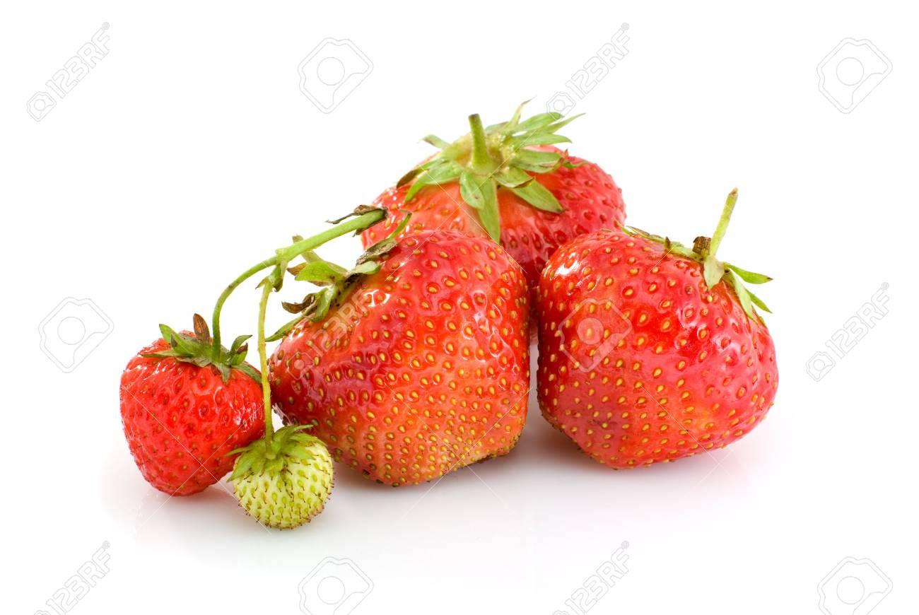 Unripe Strawberries one unripe strawberries