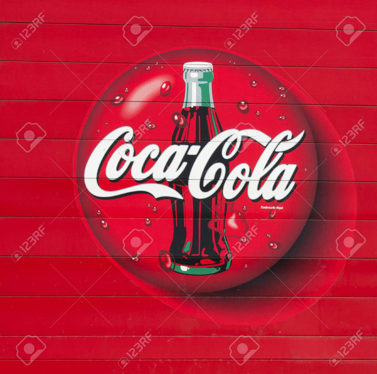 River Fallswisconsin March 14 2014 A Weel Known Coca Cola Stock