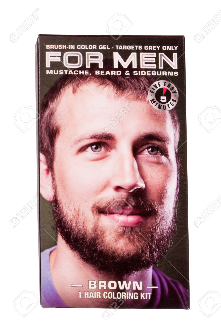 RIVER FALLS,WISCONSIN-JUNE 11, 2014: A Box Of For Men Hair Color ...