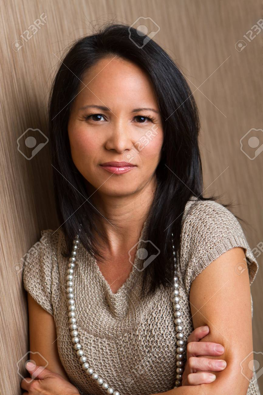 confident asian mature woman. stock photo, picture and royalty free