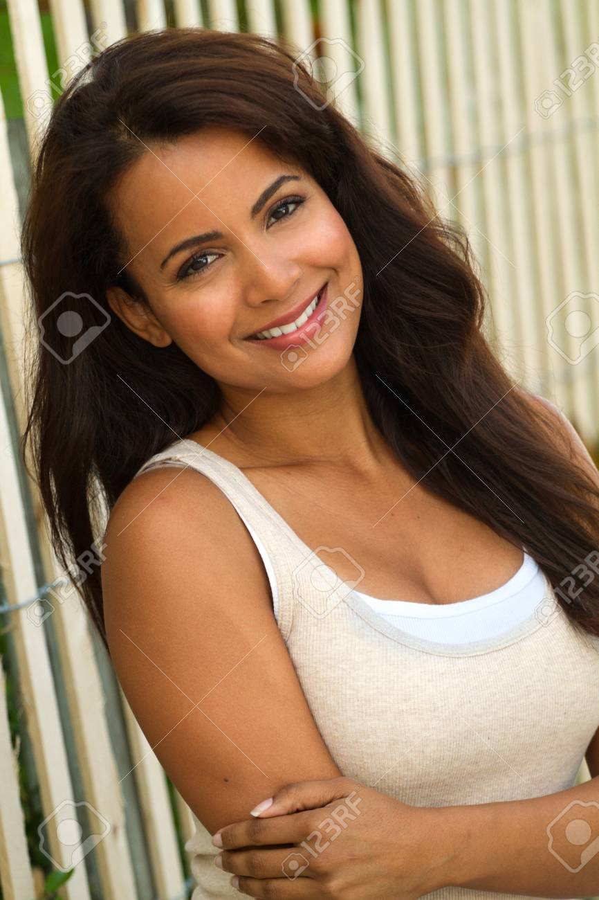 Young Beautiful Hispanic Woman Smiling Stock Photo Picture And Royalty Free Image Image 89615114