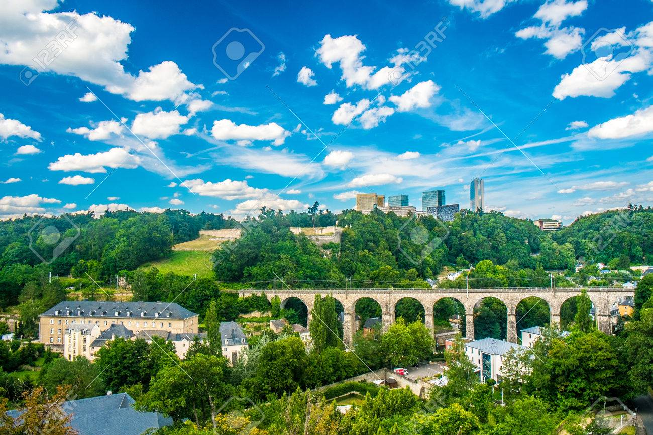 Panoramic view of luxembourg city with a cloudy sky stock photo panoramic view of luxembourg city with a cloudy sky stock photo 22890609 thecheapjerseys Images