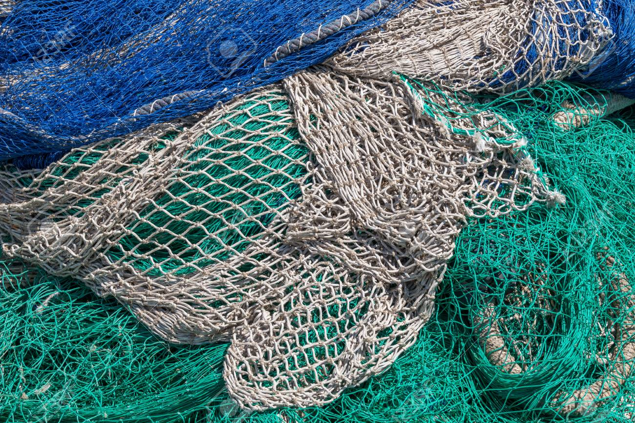 漁網、釣りの後乾燥 の写真素材...