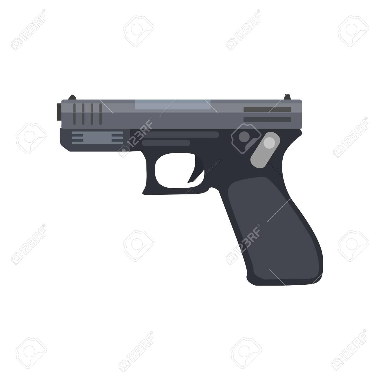 ピストル銃ベクトル リボルバー イラスト ヴィンテージ武器拳銃 ...