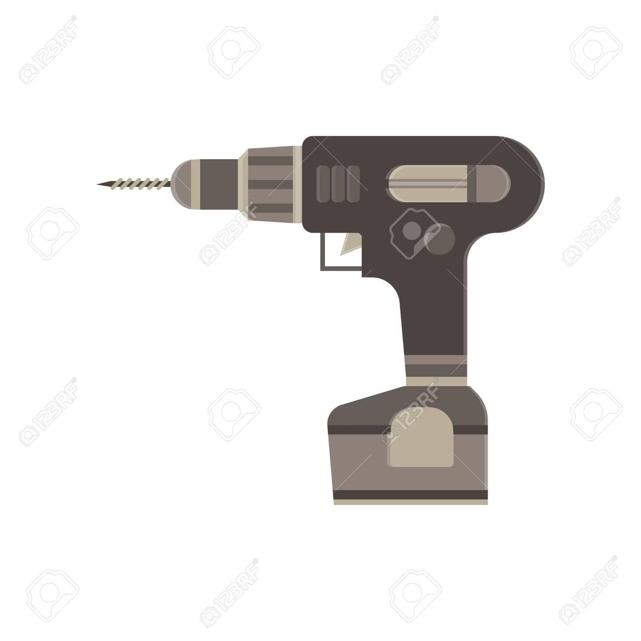 Schraubendreher Elektrische Symbol Batterie Vektor Flach ...
