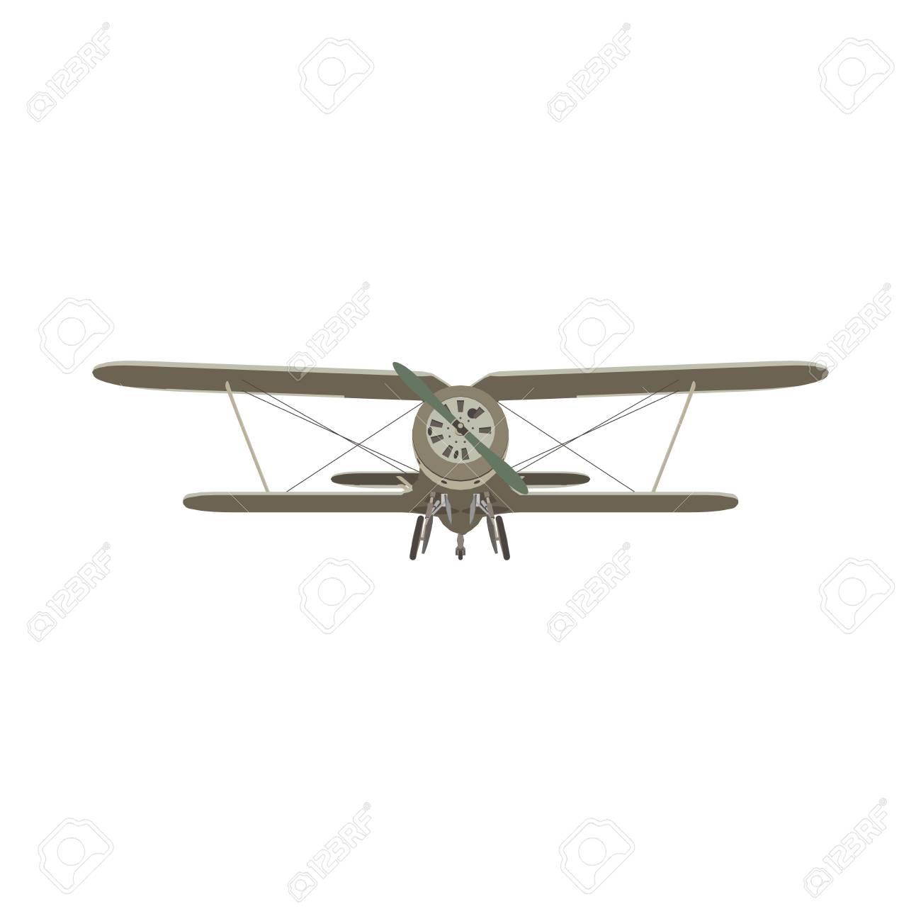 複葉機ヴィンテージ飛行機。 ロ...